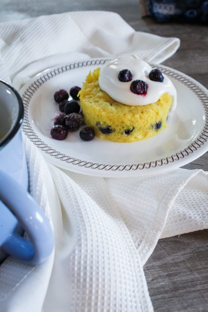 A creamy, delicious treat, this Keto Blueberry Mug cake is so easy to whip up and will satisfy any sweet craving you have!