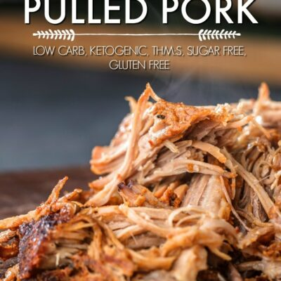 Easy Slow Cooker Pulled Pork {Ketogenic, Low Carb, THM:S}