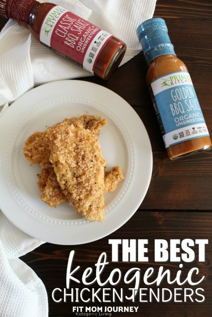 Your go-to recipe for the best Keto Chicken Tenders ever.  With a crispy coating that sticks to the chicken and can hold onto sauces if you would like, this quick recipes will quickly become a favorite!
