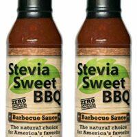 Stevia Sweet BBQ Sauce | Low Sugar (1g), Low Carb, Low Sodium, Gluten & Fat Free | Paleo & Keto Diet Friendly Barbecue Sauce | Zero Artificial Sweeteners (2 x 15 oz)