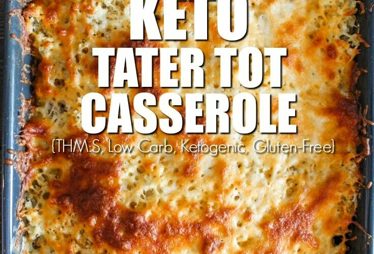A well-loved favorite growing up, my Keto Tater Tot casserole takes all of those childhood flavors and makes them keto-friendly and low carb!