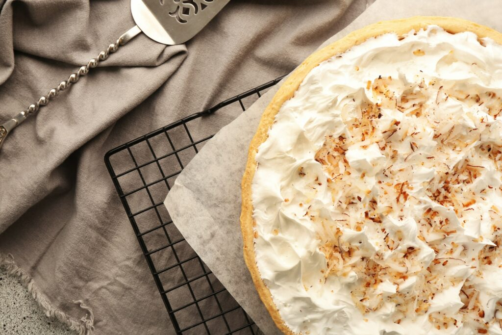 The perfect low carb pie for any holiday, Keto Coconut Cream Pie is a classic made sugar free, grain free, gluten free and sugar free!