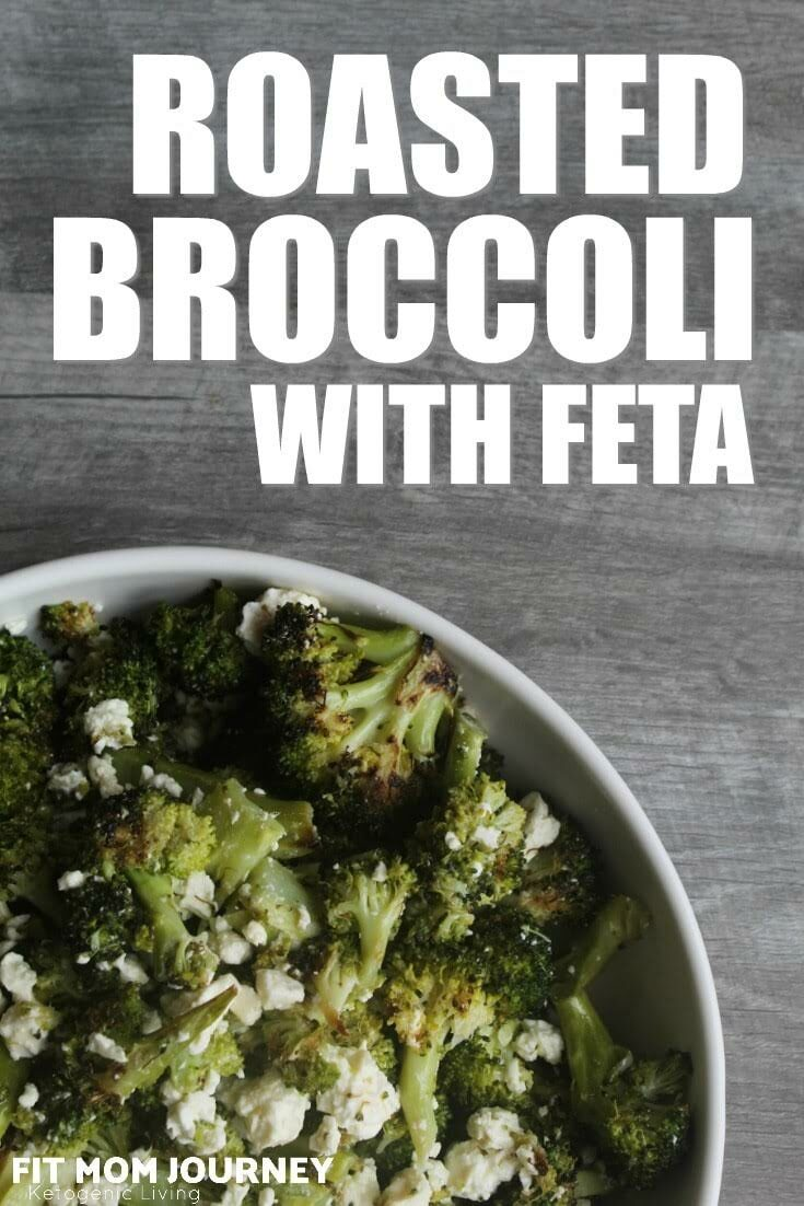 Roasted Broccoli with Feta