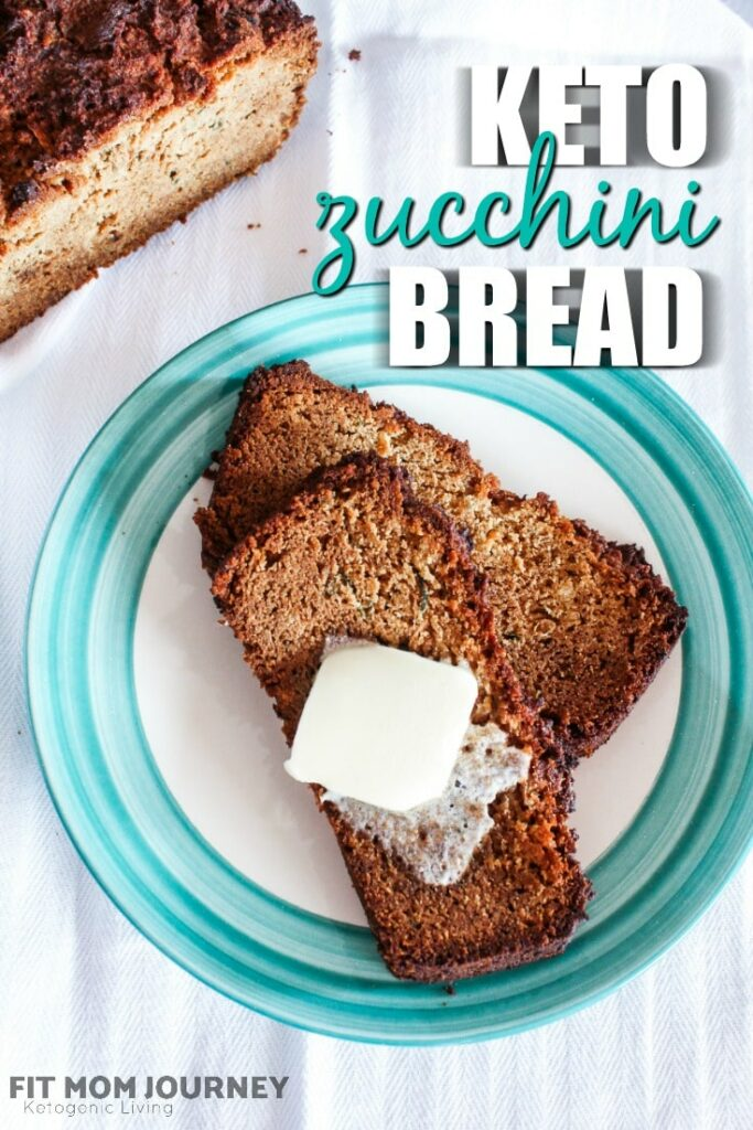 A delicious Keto Zucchini Bread that goes perfectly with grass-fed butter - and is a great way to use up all that extra zucchini from the garden!