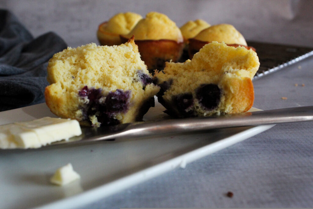 An easy to make Keto Blueberry Muffin Recipe that are ready to eat in under 20 minutes!  One bowl is all it takes to whip up these tasty muffins.
