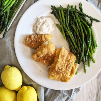 Keto Air Fryer Breaded Cod