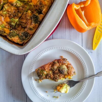 Keto Egg Casserole with Broccoli & Peppers