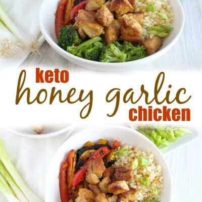 An Asian classic, Keto Honey Garlic Chicken is a fast and simple recipe to make, with a 5-ingredient sauce that will not only keep you in ketosis, it will wow even the pickiest eaters.