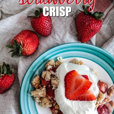 Paleo Strawberry Crisp {Keto-Friendly}