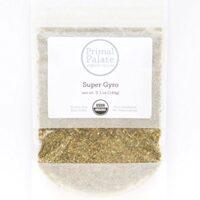 Primal Palate Organic Spices, Super Gyro Seasoning, Certified Organic, 5.1 oz resealable bag