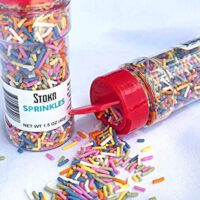 SUGAR FREE & All Natural | Stoka Rainbow Sprinkles | Less then 1 Carb per serving | 1.5 oz bottle