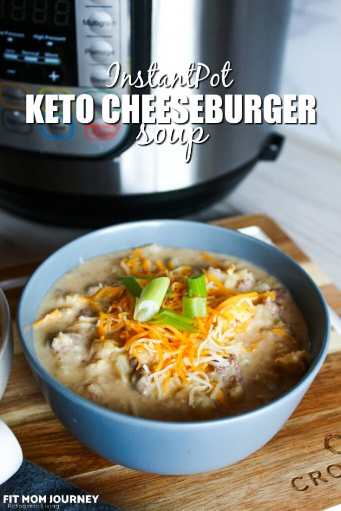All the flavors of a cheeseburger, but in a warm, comforting bowl of soup. Keto Cheeseburger Soup is made in the InstantPot - and reheats well the day after!