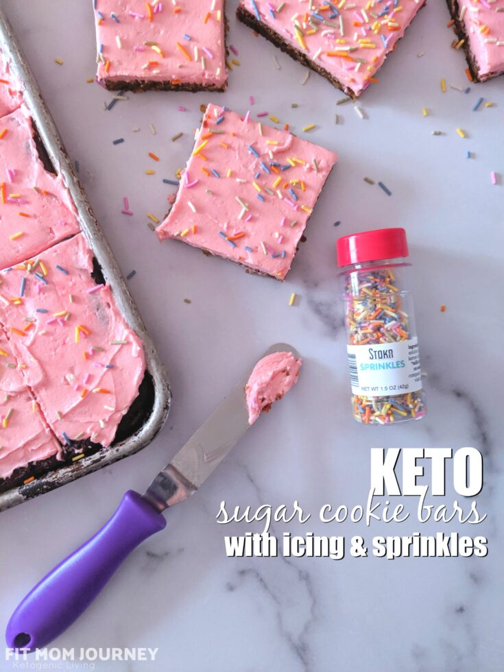 Keto Sugar Cookie Bars