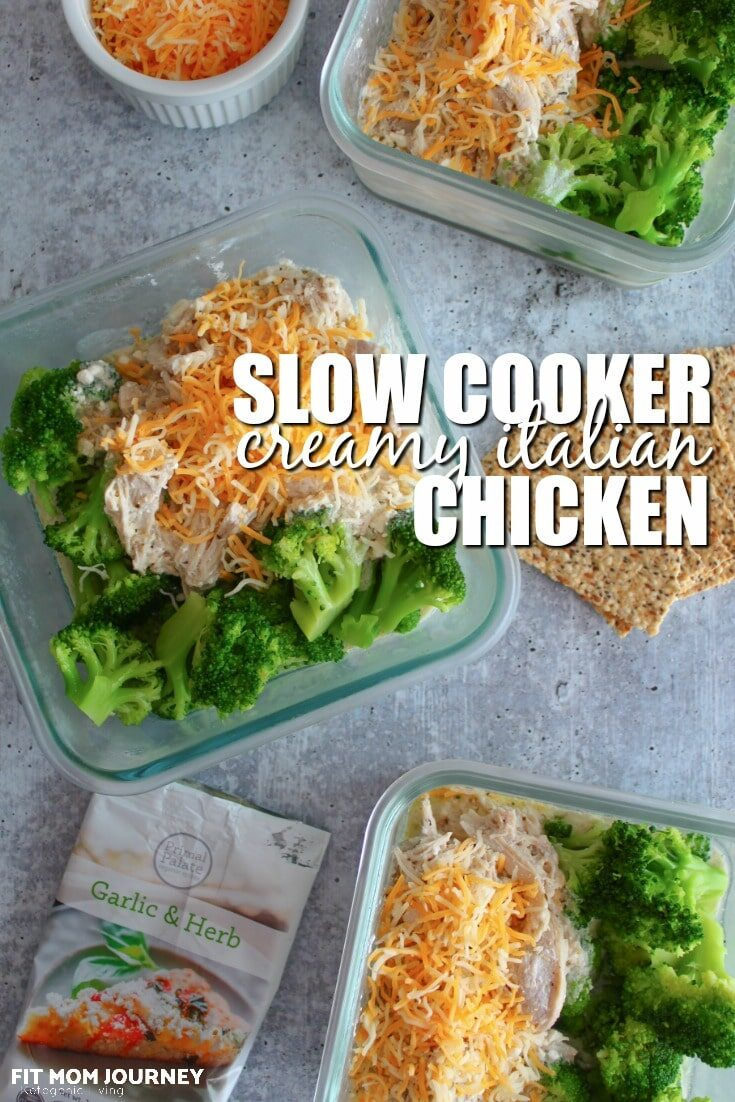 Slow Cooker Creamy Italian Chicken has been a family favorite of ours since I was in grade school.  Its easy, delicious, and requires no special ingredients.  Better yet, it can be customized to your macros or other dietary needs easily.