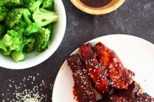 Although Koreans are most known for their use of short ribs, I decided to take some of the work out of them and create Keto Korean Style Ribs that are boneless, sugar free, and just as stick-delicious as their sugary counterparts.