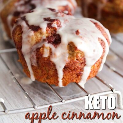 Keto Apple Cinnamon Muffins {Dairy Free}