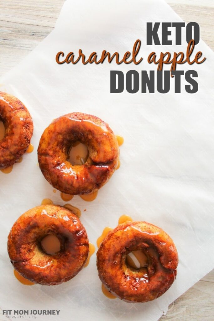 Apple flavor isn't totally off limits if you're low carb or Keto! Use my sneaky recipe for Keto Caramel Apple donuts - that's dairy free as a bonus! - and enjoy one of the most wonderful flavors of fall in a low carb, baked donut!