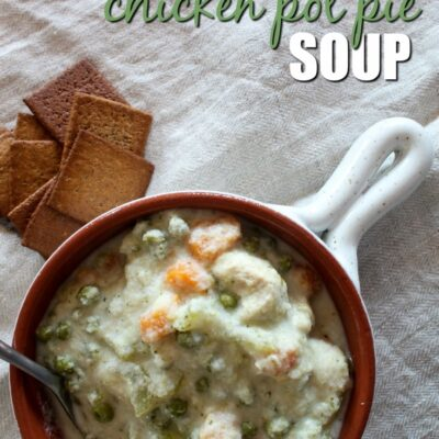 This Keto Chicken Pot Pie Soup is easy to make in the slow cooker or InstantPot. The new recipe is easy to make, yet still delicious and hearty.