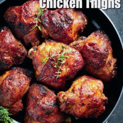 Keto Honey Mustard Chicken Thighs