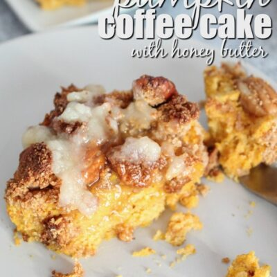 Keto Pumpkin Coffee Cake with Honey Butter