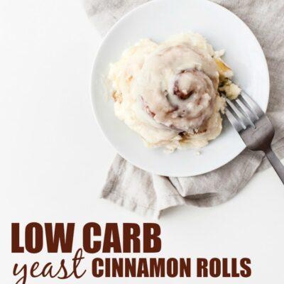 Low Carb Yeast Cinnamon Rolls