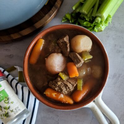 Throw all the ingredients for Keto Beef Stew in the slow cooker before work and have a delicious, hearty, meal waiting when you get home! Even my 5 year old loves Keto Beef Stew and requests it often!