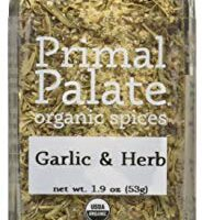 Primal Palate Organic Spices Garlic & Herb, Certified Organic, 1.9 oz Bottle