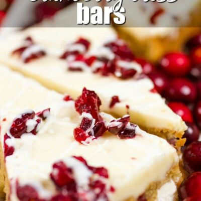 Keto Cranberry Bliss Bars