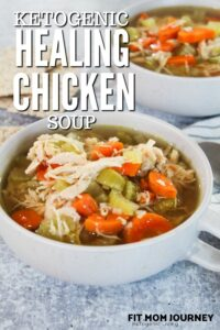 Some recipes need no introduction, and my Healing Keto Chicken Soup is one of them.  It's perfect for when stomachs are a little upset, or just a regular weeknight when dinner needs to be quick.  Packed with gut-healing nutrients, and ready in 30 minutes, Healing Keto Chicken Soup is a regular in our meal rotation.