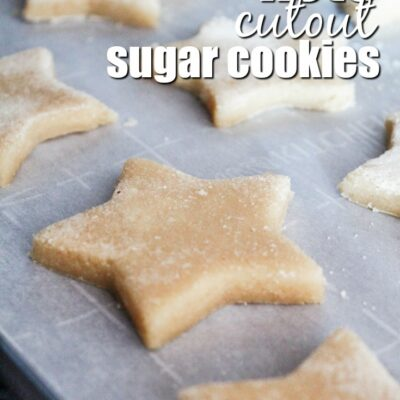 Keto Cutout Sugar Cookies