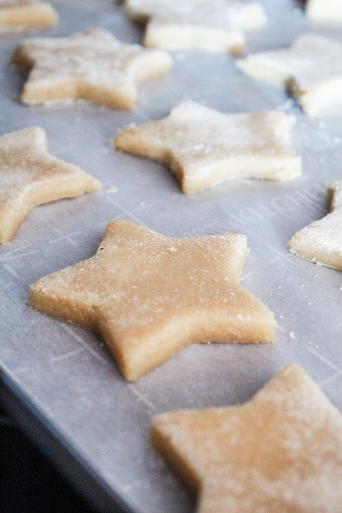 The best, pillowy soft, Keto Sugar Cookies you'll ever make.  So good you can roll them out and cut them in shapes for the holidays - my Keto Cutout Sugar Cookies are a holiday and family favorite!
