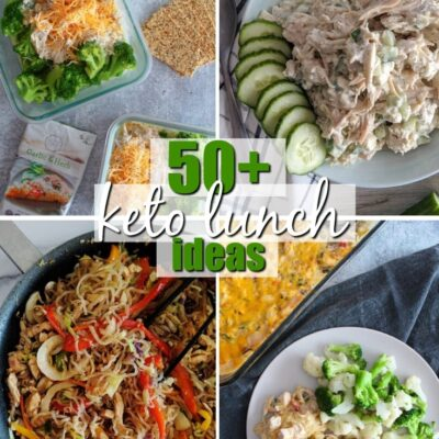 Whether you're meal prepping for the busy week ahead, or just looking for fresh meal ideas, these Keto Lunch Ideas have you covered! Delicious and good for you, Keto Lunch Recipes will have you coming back for more.