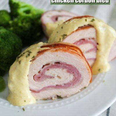 Bacon Wrapped Chicken Cordon Bleu
