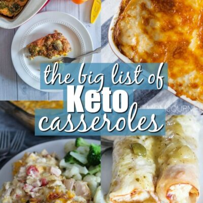 Few things are better than a warm Keto Casserole that works well for dinner one night, then lunch the next day.  I've rounded up tons of Keto Casseroles to inspire your next meal!