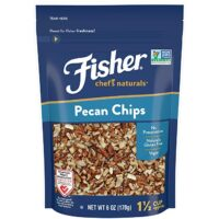 FISHER Chef's Naturals Pecan Chips, 6 oz, Naturally Gluten Free, No Preservatives, Non-GMO