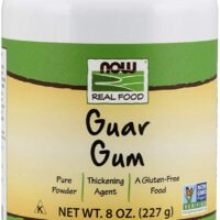 NOW Foods, Guar Gum Powder, 100% Pure Powder, Natural Thickener, Gluten-Free, 8-Ounce