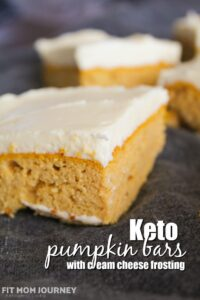 Great for a crowd, my Keto Pumpkin Bars are simple to make, tasty, and keep well in the refrigerator to be used for lunches later.  Keto Pumpkin Bars are low carb, ketogenic, a THM:S, Sugar Free, Grain Free, and Gluten Free.