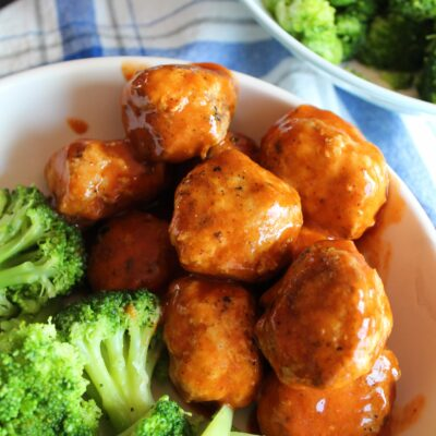 Keto Chicken Meatballs with Sweet & Sour Sauce {Paleo, Whole30, Low Carb, THM:S, Sugar Free}