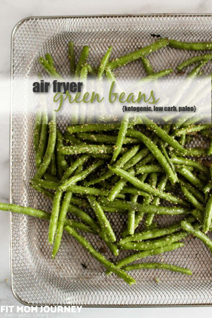 Green beans roasted in the oven take a long time and heat up the house, but Air Fryer Green Beans take less time, are crispy, and don't heat up the house. They're very easy to make and are an excellent side dish that you can use many different herb combinations on!