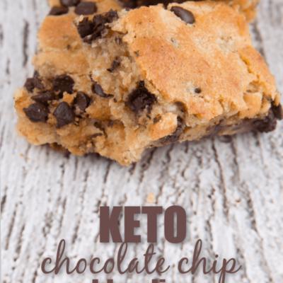 Keto Chocolate Chip Blondies