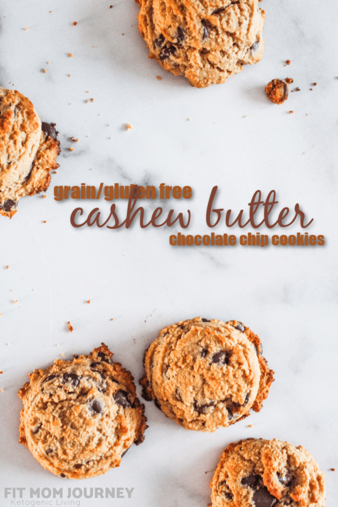 Cashew Butter Chocolate Chip Cookies - think of a buttery, decadent cookies that is grain and gluten free, paleo, and delicious!