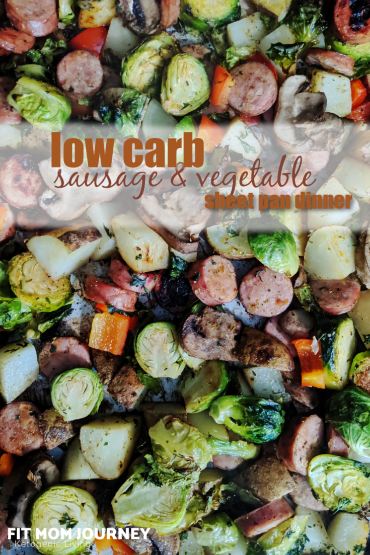 A 30 minute dinner for the whole family and a variety of diets, Low Carb Sausage and Vegetable Sheetpan Dinner is healthy and heart - and makes fabulous leftovers!
