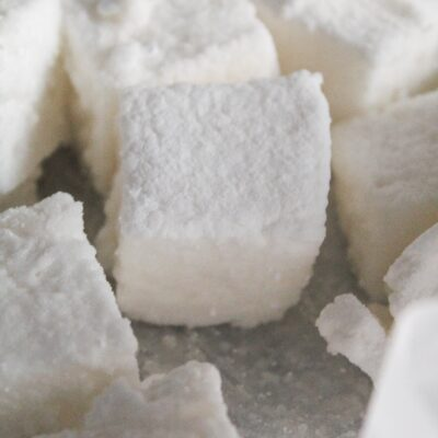 """I've tried quite a few premade """"keto marshmallows"""" but none are as good as my Homemade Keto Marshmallows Recipe. These simple to make treats are extremely easy, require only 4 ingredients, and are wonderfully fluffy and stretchy."""