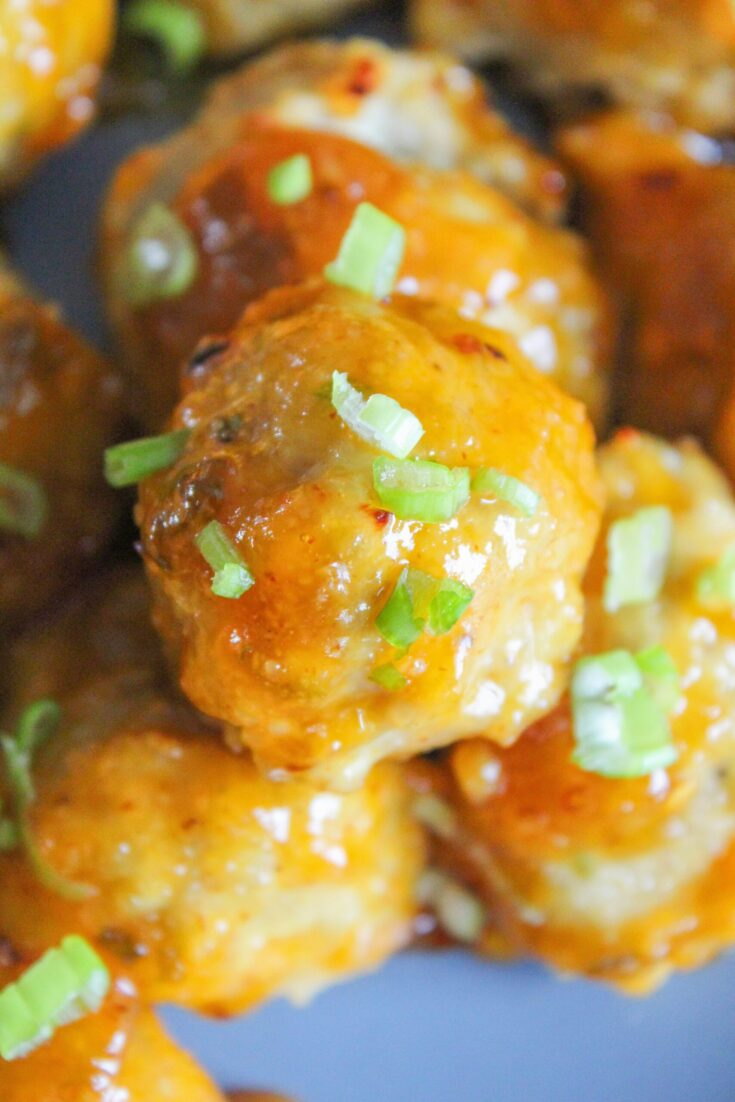 You've heard of Firecracker Shrimp, well now meet Keto Firecracker Chicken Meatballs. A super versatile and macros friendly protein, not to mention and easy weeknight dinner!