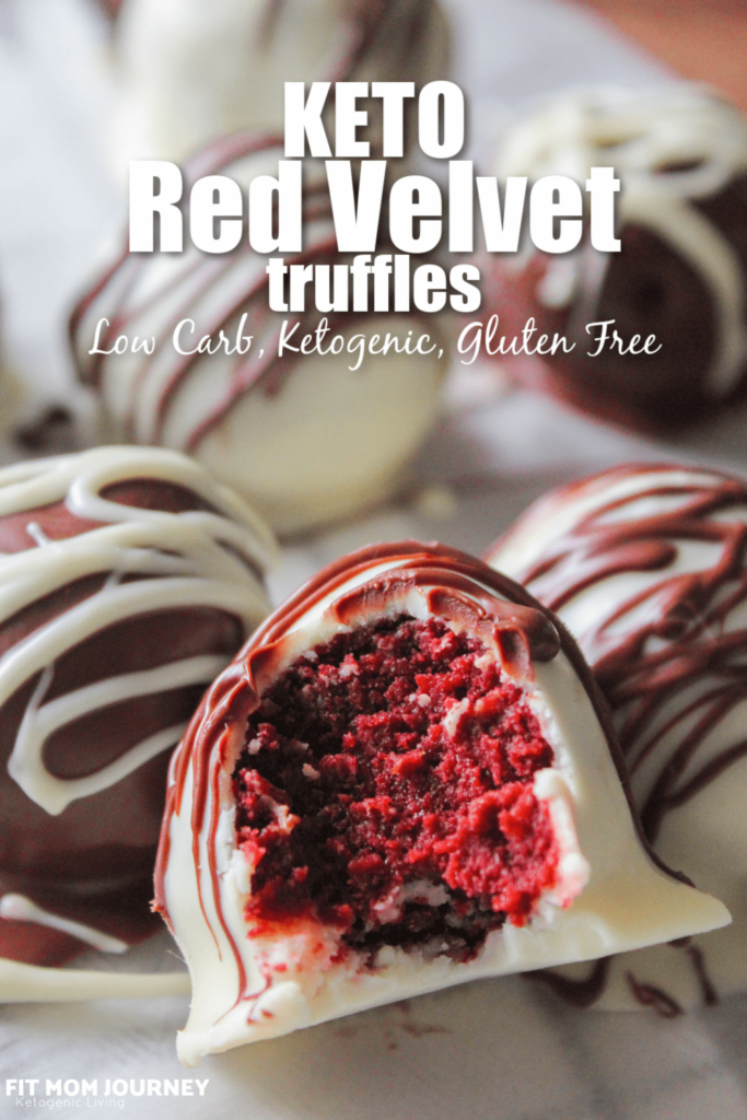 Keto Red Velvet Truffles are the ultimate Valentine's Day treat!  These sweet bites with curb your sweet tooth and are a wonderful way to celebrate the holiday of love.