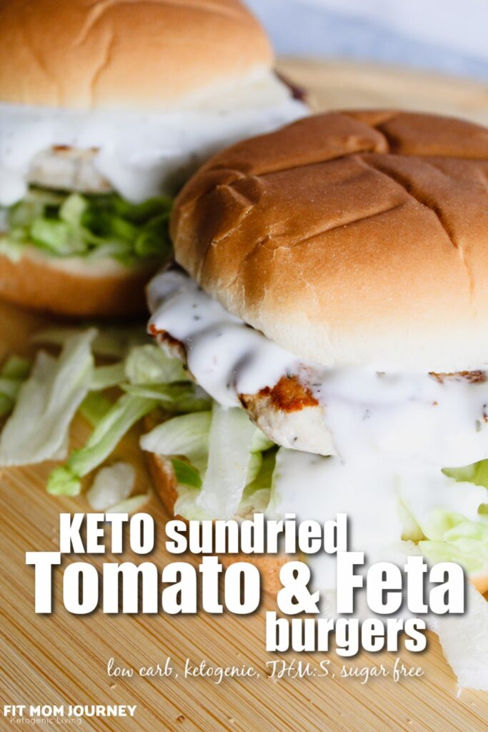Keto Greek Chicken Burgers with feta cheese, sundried tomatoes, and spinach are packed with flavor, juicy, and incredibly macro-friendly. Throw them on the grill for an easy weeknight dinner, then warm them up for leftovers the next day.