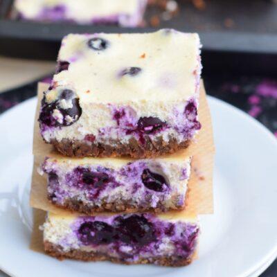 Keto Blueberry Cheesecake Squares