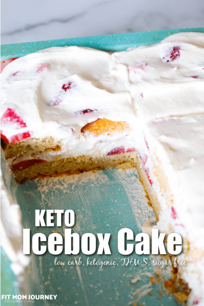 This Keto Icebox Cake is the perfect cold dessert for summertime. With delicious cookie layers, refreshing berries, and a whipped cream and cream cheese filling, make ahead to share with a crowd!