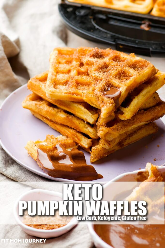 Keto Pumpkin Waffles are the more moist cousin of regular old keto waffles, made especially for fall! They take only 1 bowl to make, and freeze well so you can make them in bulk and have on hand to throw in the toaster!